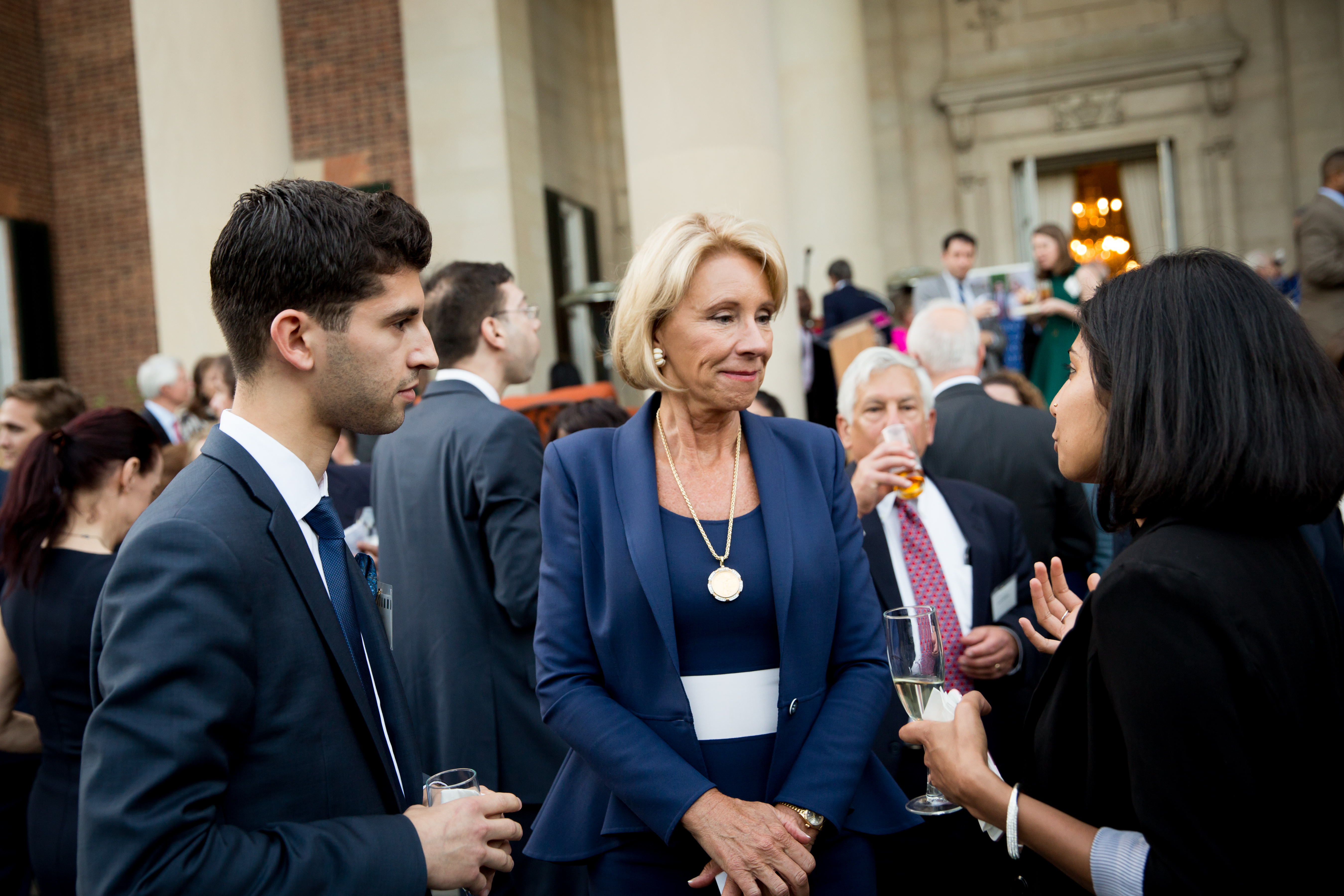 Fulbrighters spoke with US Secretary of Education Betsy DeVos