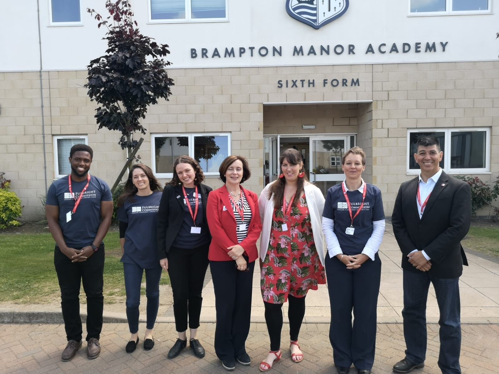 Fulbright staff and grantees at Brampton Manor Academy