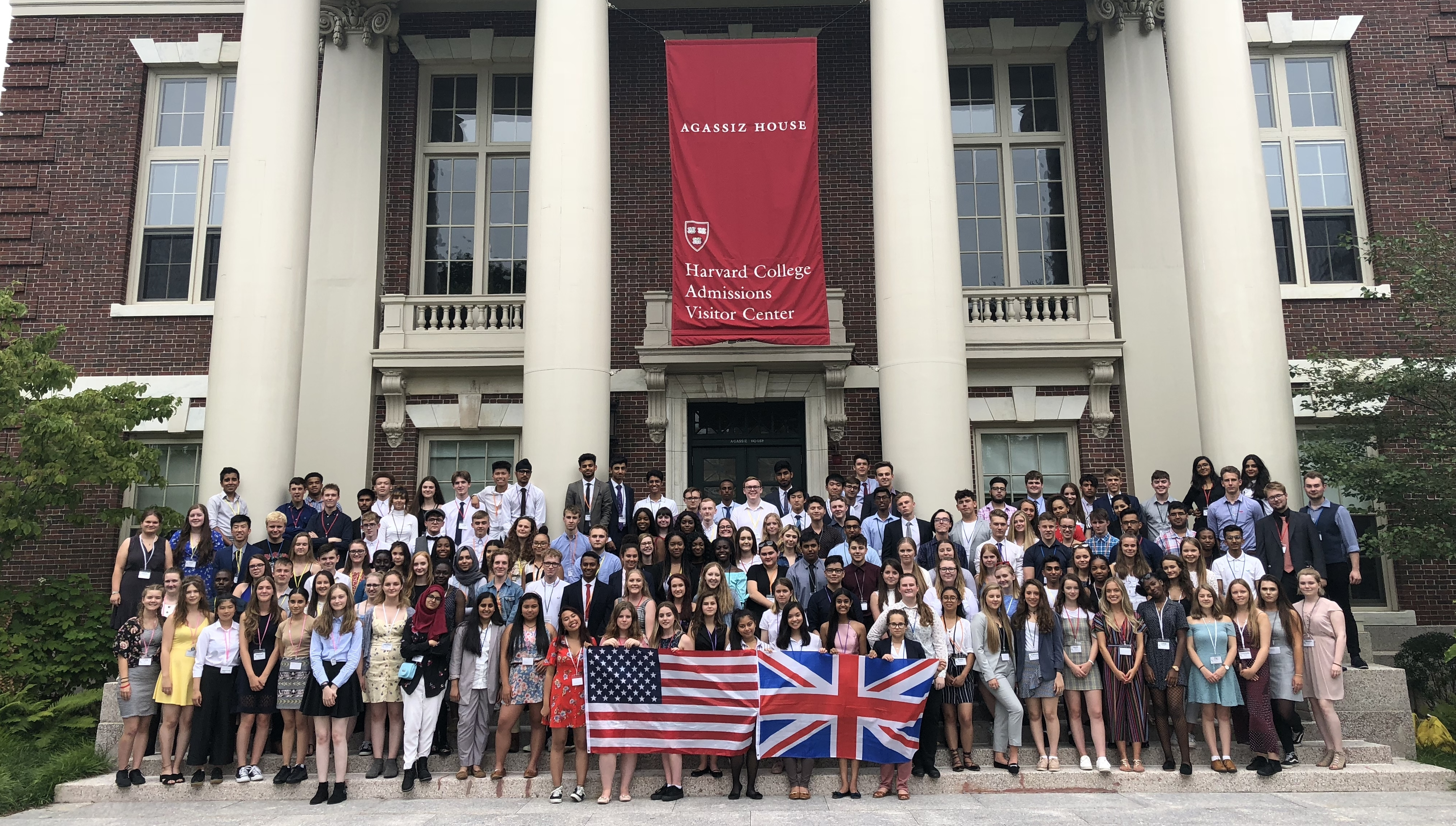 Students from the 2018/19 cohort during their visit to the US.